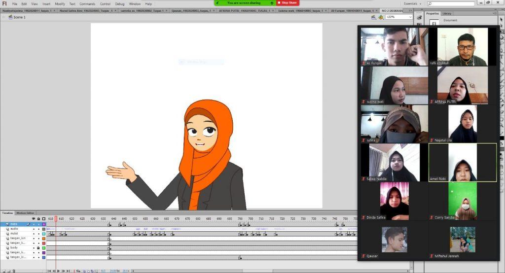 Dosen Fikom latih Pemuda Bireuen Program Multimedia Secara Daring